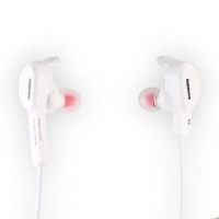 Remax S5 Bluetooth Wireless Neckband Earphone - White Photo