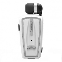 Remax Clip On Headset & Handsfree Bluetooth in one - White Photo