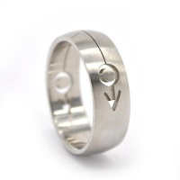 Xcalibur Stainless Steel Band 8mm Wide Half Round Ring - TXR028 Photo