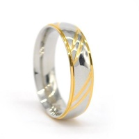 Xcalibur Stainless Steel Band 6mm Wide with Highly Polished Yellow - TXR026 Photo