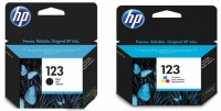 HP Ink 123 Combo Pack Black & Colour HP123/123 OEM Photo