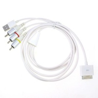 Video AV Cable to TV 3RCA & USB Charger for iPad/iPod/iPhone 4 4S /iPod Touch with 1.8m Cable Photo