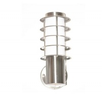 Outdoor Waterproof Wall Lamp For Garden Balcony Cottage & Street - White & Silver Photo
