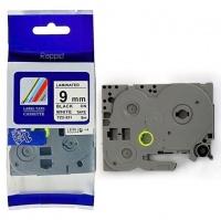 Brother Rappid TZ-221 Label Tape Cartridge - Laminated Black on White [8m Length] Photo