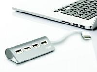 Port Designs Port Connect Hub 4 Port USB 2.0 - Grey Photo