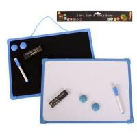 2-in-1 Educational Whiteboard / Chalkboard for Learning - Blue Photo