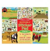 Melissa & Doug Reusable Sticker Pad - Farm Photo