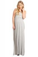 Absolute Maternity Sleeveless Maternity Maxi Dress Melange Photo