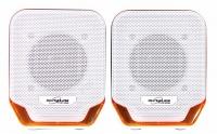 Ultra Link Premium Usb Powered 2.0 Ch Speakers - Orange & White Photo