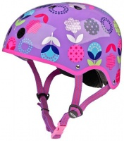 Micro Girls Cycling Helmet - Floral Dot Purple Photo