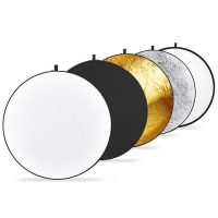 5-in-1 Round Light Reflector for Photography - 80cm Photo