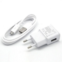Samsung 2A Travel Charger & USB Sync Cable Compatible Galaxy with Micro-USB Connector Photo