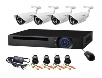 AHD CCTV Direct - 4 Channel cctv camera system - Full Kit Perfect security cameras with internet & phone viewing Photo