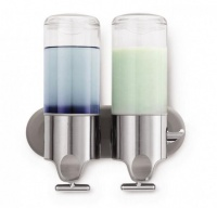 Stainless Steel Double Wall Mount Soap Dispenser - 500ml Photo
