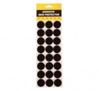 Bulk Pack 10 x Protection Pads - Black Adhesive 3cm Round 24 Piece Photo