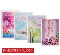 Bulk Pack 8 x Sympathy Card & Envelope Photo