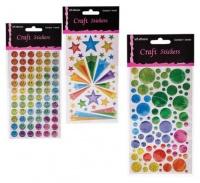 Bulk Pack 8 x 3D Gel Stickers - Assorted Photo