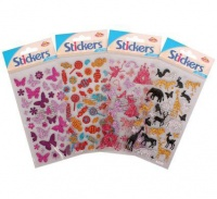 Bulk Pack 8 x Glitter Stickers - Assorted Photo