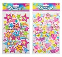 Bulk Pack 8 x Glitter Stickers Assorted - Packs of 25 Photo