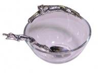 Diana Carmichael Lying Cheetah Dish With Dishing Spoon Set - 100mm Photo
