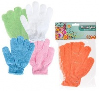 Bulk Pack 6 x Health Glow Bath Body Glove 18 cm 1 Pair - Assorted Colours Photo