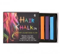 Bulk Pack 4 x Hair Halkin Chalk 6 Colour Set Photo