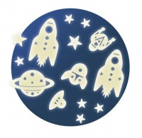 Djeco Glow In The Dark Stickers Mission Space Photo