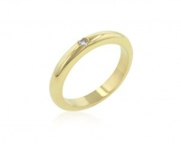 0.10ctw Gold Plated Solitaire Costume Wedding Band Photo