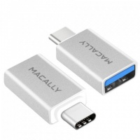 Macally USB-C to USB A Fem mini Adapter - 2 pack Photo