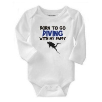 Born To Go Diving with My Daddy Long Sleeve Baby Grow Photo
