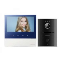 "Commax CDV-70H/DRC-4L Hands Free 7"" Video Touch Button Intercom Kit Photo"