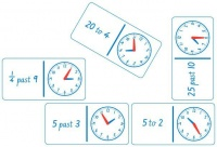 Teachers First Choice Dominoes Clock Analogue And Numbers Photo