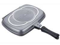 Royalty Line Supreme Marble Coating Double Fry & Grill Pan 34cm - Silver Photo