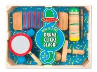 Melissa & Doug Band-In-A-Box Drum! Click! Clack! Photo