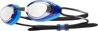 TYR Black Hawk Mirrored Racing Goggles - Silver/Blue Photo