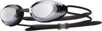 TYR Black Hawk Mirrored Racing Goggles - Silver Photo