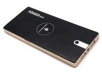2-in-1 Wireless Smartphone Charger Qi & Powerbank 10000 mAh - Black Photo
