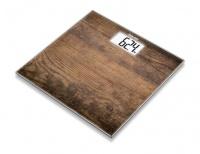 Beurer Design Glass Bathroom Scale GS203 Wood Photo
