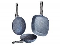 Berlinger Haus 3-Piece Marble Coating Forest Line Fry & Grill Pan Set - Smoked Wood Photo