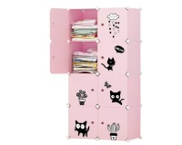 DIY Modular Storage Cabinet - Pink Photo