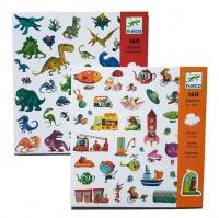 Djeco Dinosaurs & Transport Stickers Photo