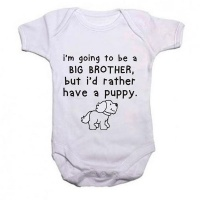 Brother Qtees Africa I'm Going To Be A Big But I'd Rather Have A Puppy Short Sleeve Boys Baby Grow Photo