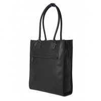 """Decoded 15"""" Leather Tote - Black Photo"""