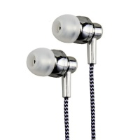 Astrum Electro Painted Earphone with In-Wire Mic - Silver Photo
