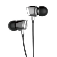 Astrum Stereo Earphones With Mic - Silver Photo