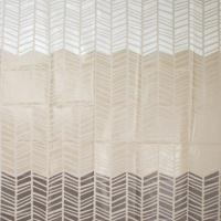 The Bathroom Shop - Shower Curtain Peva - Chevron - White Photo