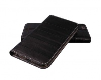 X-ONE Luxurious Genuine Eel Leather Cover for iPhone 6 - Black Cellphone Photo