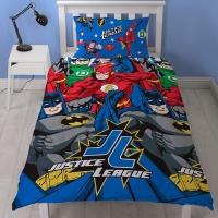 Justice League Inception Single Duvet Cover Set Superman & Batman Photo