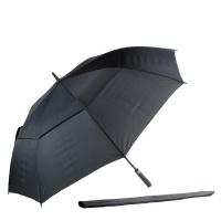 Alice Umbrellas Auto Open Windproof Fibreglass Golf - Black Photo