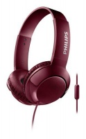 Philips SHL3075 Bass Headphones With Mic - Red Photo